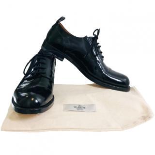 Valentino Black Patent Brogues