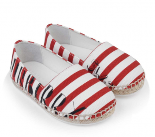 Burberry Red Striped Peckfield Espadrilles