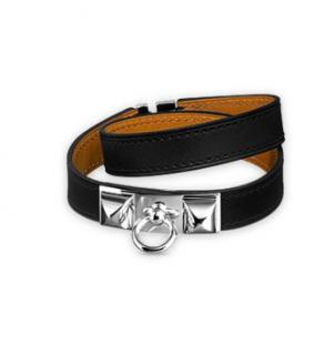 Hermes Rivale Double Tour leather bracelet