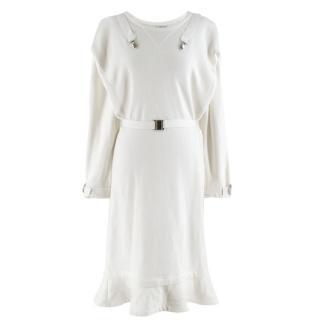 JW Anderson White Fleece-back Jersey Sweatshirt  Rope Dress