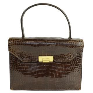 675751a62 Hermes Vintage Crocodile Top Handle Bag