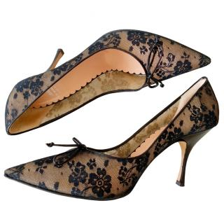 Moschino Cheap & Chic Floral Lace Pumps