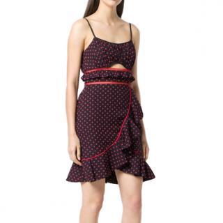 Self Portrait cutout polka dots dress