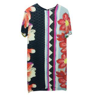 Etro Mulit-Print Shift Dress