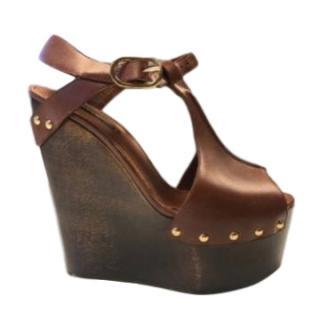 Dolce & Gabbana Wooden Wedge Sandals