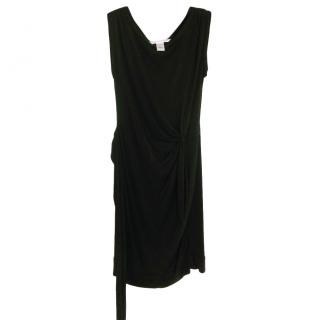 Diane Von Furstenberg Black Classic Draped Dress