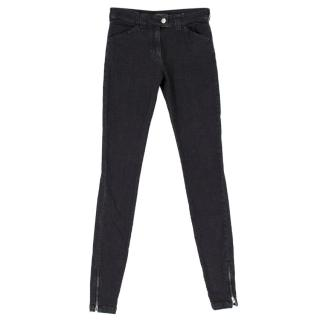 Balenciaga Dark Grey-washed Slim Denim Jeans
