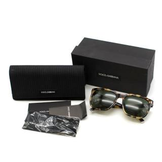 Dolce & Gabbana Havana Leopard-printed Sunglasses