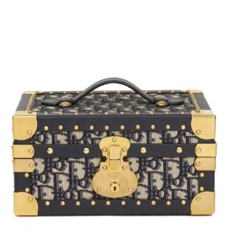 Dior Oblique Monogram Leather Trimmed Jewellery Box