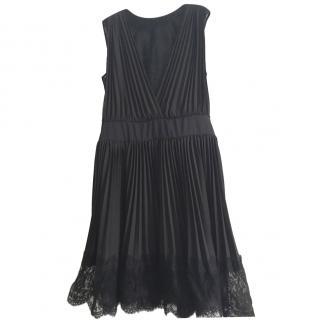 Mikael Aghal Black Pleated Dress