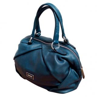 Coccinelle blue leather tote bag
