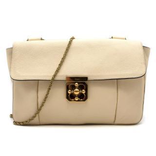 Chloe Cream Large Elsie Shoulder Bag