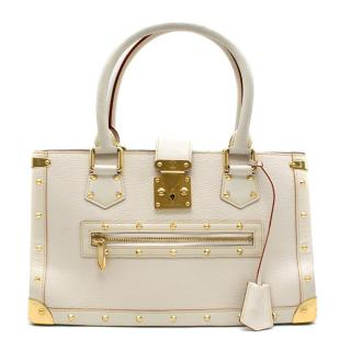 Louis Vuitton Ivory Leather Suhali Le Fabuleux Gold-Studded Bag