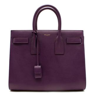 Saint Laurent Purple Leather Baby Sac Du Jour Handbag