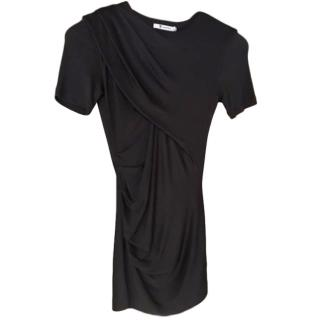 T by Alexander Wang Black Draped Top