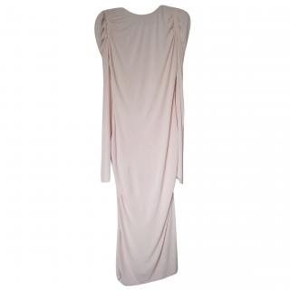 Alexander McQueen Draped Pink Exaggerated Shoulder Gown