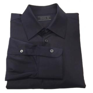 Prada Mens Navy Dress Shirt