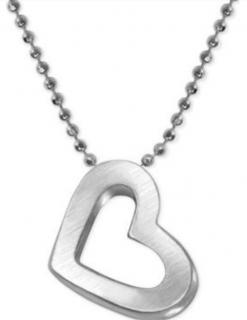 Alex Woo Sterling Silver Heart Pendant Necklace