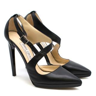 Jimmy Choo Black Leather Platform Pumps