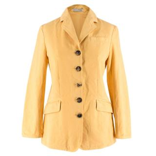 JW Anderson Yellow Denim Tailored Jacket
