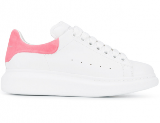 Alexander McQueen White & Pink Oversize Trainers