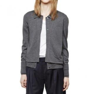 J W Anderson Grey Polo Combo Cardigan