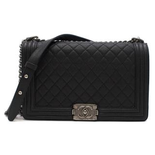Chanel Black Calfskin Large Boy Bag