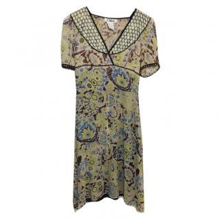Chloe Silk Paisley Dress