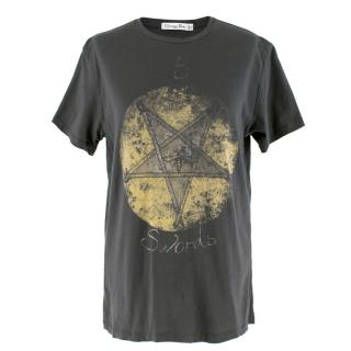 Dior Charcoal Hand Painted 5 of Swords Top