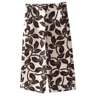 Max Mara Wide Leg Capri Pants