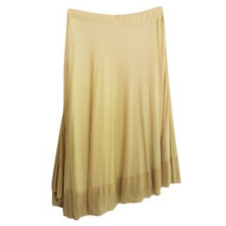 Givenchy nude asymmetrical silk skirt
