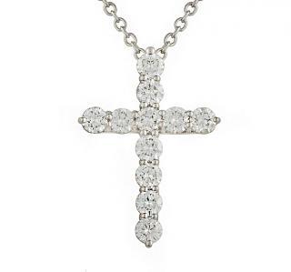 Tiffany & Co platinum diamond cross