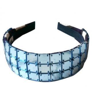Miu Miu Blue Tiled Headband