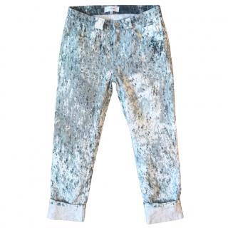 Carven Tie Dye Ankle Crop Jeans