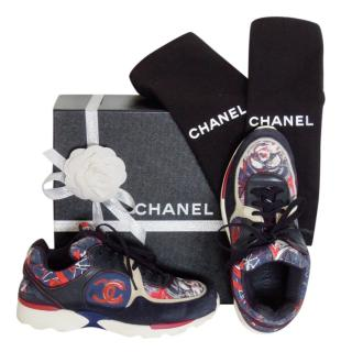 Chanel Limited Edition Graffiti CC Trainers