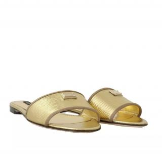 Dolce & Gabbana sicily gold logo slides