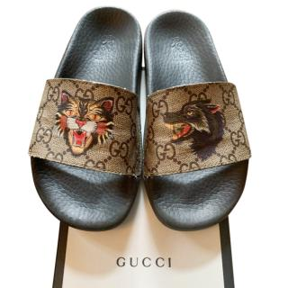 Gucci Kid's Angry Cat Slides