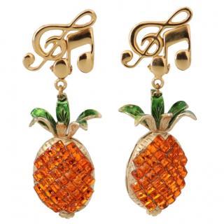 Dolce & Gabbana Pineapple Clip-On Earrings