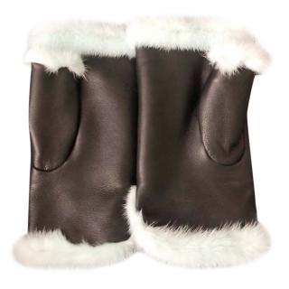 Bespoke Mink & Leather Mittens