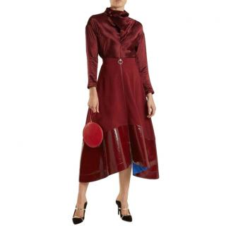 9d6872a45f6e98 Roksanda Ilincic Oriana Contrast Hem Midi Skirt