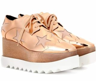 Stella Mccartney Rose Gold Elyse Mirror Sneakers