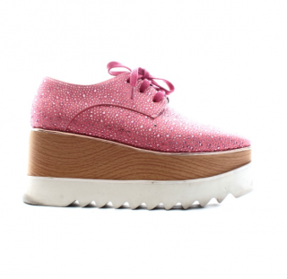 Stella McCartney Pink Crystal Embellished Elyse Sneakers