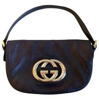 Gucci Black Vintage Top Handle Bag