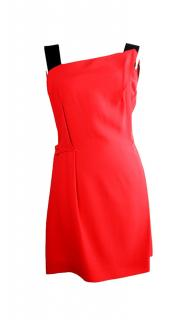 Roland Mouret asymmetric two-tone mini dress