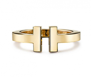 Tiffany & Co 18k Yellow Gold Square Ring