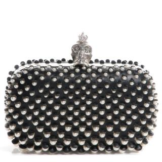 Alexander McQueen Pearl Embellished Skull Box Clutch