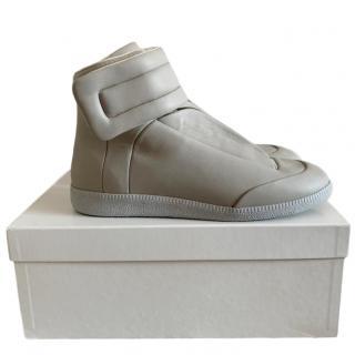 Maison Martin Margiela soft grey leather sneakers