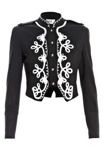Alice By Temperley Emroidered Military Cropped Jacket