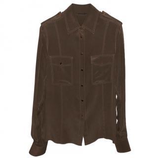 Tom Ford Silk Khaki Shirt