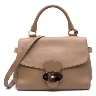 Mulberry Taupe Postmans Lock Satchel Shoulder Bag